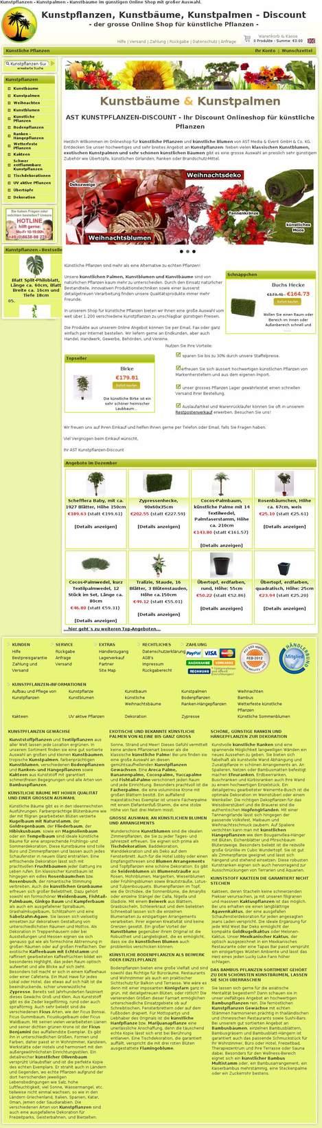 Kunstpflanzen Discount ast kunstpflanzen discount gbr jettenbach bayern