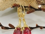 Ohrringe Brisur, synthetischer Rubin, 8Kt GOLD -431367