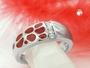 Schmuck by GB - Ring, rot, mit Zirkonias, Silber 925 -94047-58
