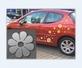 Autoaufkleber Blumen / Dots - blp01-v