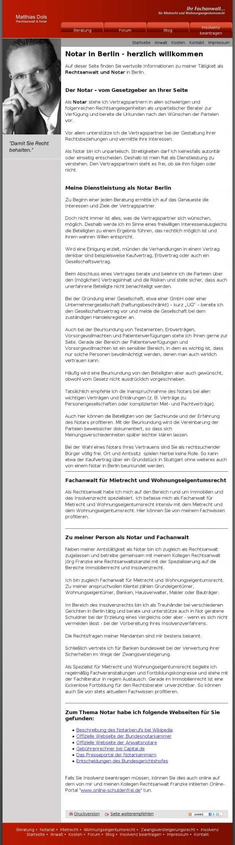 Notar Matthias Dols – Mietrecht und Wohnungseigentumsrecht