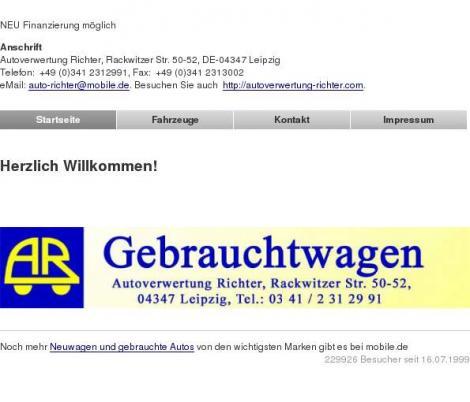 Autoverwertung Richter Leipzig Sachsen