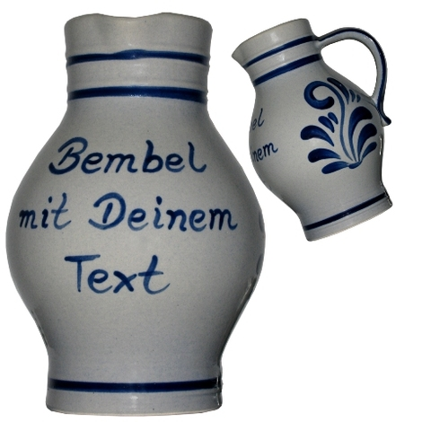 Bembel individuell mit Text