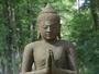Steinfigur Buddha aus Basanit